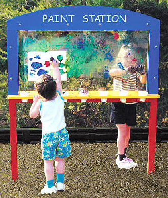 playground equipment - Paint Station/ Playground Paint Station