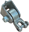 Swing hanger with clevis for wooden structures.