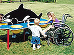 whale theme sand water table/ ADA Sand and Water Tables
