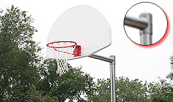 Special needs playground equipment :: Basketball set :: Adjustable :: Clamp/ Adjustable Basketball System (Clamp Mechanism)