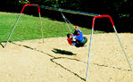 heavy duty tire swing set