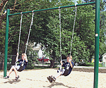 handicapped swingset structures