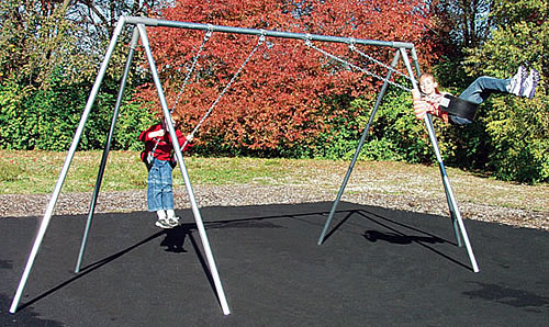primary tripod ada swing set