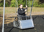 ada wheelchair platform with frame swing set