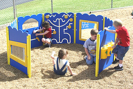 special needs kiddie korral panels/ ADA Play Panel Structure Kiddie Korral