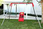 single seat ada swing set