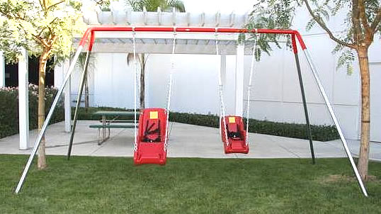 Accessible Dual ADA Swing Structure