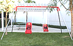 double seat ada swing set