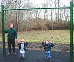 kids single post swing set