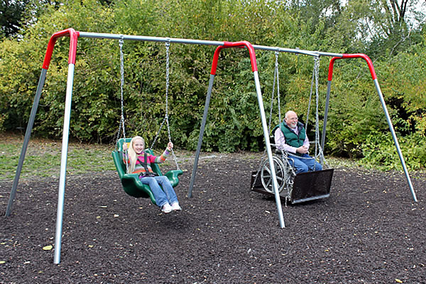 Swinging Playground Equipment : Special needs playground equipment home page