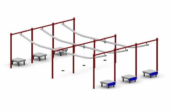 special needs zipline triple track